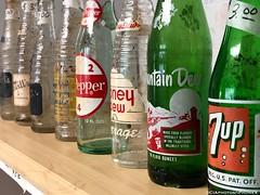 Old Soda Pop bottles (CIAphotos) Tags: bottles sodabottles popbottles mtdew mtdewbottle 7upbottle 7up drpepperbottle drpepper sodapop nesbittssoda nesbittspop nesbittsbottle nesbitts