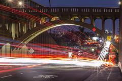 Traffic Streaks Under the Georgia Street Bridge In Downtown San Diego. Take 2. (slworking2) Tags: sandiego california unitedstatesofamerica bridge street road northpark historic architecture traffic streaks lights longexposure night
