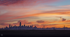 SF Sunset (from Alameda) 2 (lycheng99) Tags: sf sfbayarea sfskyline sfbaybridge sanfrancisco sanfranciscobayarea sanfranciscotravel sanfranciscobridges dusk clouds colorful colorfulsky colorfulclouds panorama panoramicview sunset lights landscape city nature sky skyline skyscape travel explore alameda alamedapoint
