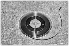 Magnetic Tape (Johann (Still Me!)) Tags: smileonsaturday musicinbw reeltoreel tape bw sw nb simplistic johanndejager ef24105mmf4lisiiusm canoneos5dmarkiv mono monochrome blackwhite swartenwit minimalistic