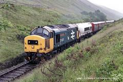 c.07/1987 - County March Summit, Tyndrum, Scotland. (53A Models) Tags: britishrail class37 37405 strathclyderegion diesel scotland train railway locomotive railroad countymarchsummit tyndum