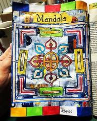 Mandala (xLontrax) Tags: mixedmedia papercrafts journaling junkjournal mandala tibetanflags gonewrong