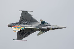 Gripping Gripen (The Crewe Chronicler) Tags: aircraft airdisplay airshow rafcosford rafcosfordairshow raf canon canon7dmarkii aviation saab saabgripen gripen
