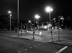 crossings (chrisinplymouth) Tags: streetlight lighting night road trafficcrossing trafficlight junction pedestrian plymouth devon england uk city cw69x xg diagx plain diagonal