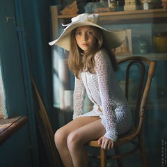 Mel. (matveev.photo) Tags: girl teen teenage matveev portrait white light window hat