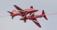 Synchro Pair (The Crewe Chronicler) Tags: aircraft airdisplay airshow rafcosford rafcosfordairshow raf canon canon7dmarkii aviation theredarrows rafat redarrows hawk hawkt1 baehawk