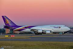 Purple Thai (Tom Marschall) Tags: hstgg b744 tg tg471 yssy 34l 1206192