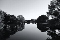 The River Flows, It Flows To The Sea 2 (RadarO´Reilly) Tags: ruhr flus river balladofeasyrider spiegelungen reflections landschaft landscape sw schwarzweis bw blackwhite blanconegro monochrome noiretblanc zwartwit nrw