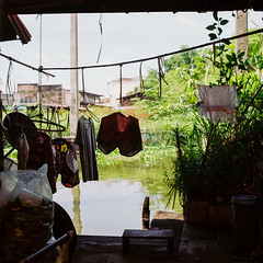 Drying laundries (Thanathip Moolvong) Tags: hasselblad 501 cm 80mm f28 kodak portra 160