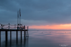 One peaceful morning (Through_Urizen) Tags: category kemer longexposure places seascape turkey canon1585mm canon canon70d coast coastline coastal shore pier clouds sky dawn morning waves movement glow landscapephotography travelphotography