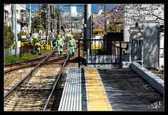 4ème jour / 4th day - En attendant le train / Waiting for the train - Kyoto (christian_lemale) Tags: gare station kyoto japon japan nikon d7100 ouvriers workers