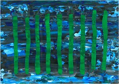 Blue-black-white and Estonian woods 2018 Aleksandr Osvald August von Turro-Lebardov EKA73 M32 2018-95 07.12.2018 (2) (aleksandroavtl) Tags: blue black white composition green woods wood forest nature ecology environment national color colours estonia estonian visualart art painting acrylic acrylics latex contemporaryart artwork аъ