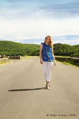 Walkin' On Sunshine (Peter Camyre) Tags: quabbin reservoir winsor dam belchertown ware massachusetts outdoor summer casual photoshoot peter camyre photography pictures female model posing outside pretty beauty beautiful walking sunshine walkin sun light