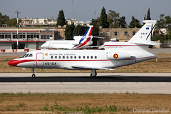 Spanish Air Force Dassault Falcon 900 'T.18-4/45-04' LMML - 14.06.2019 (Chris_Camille) Tags: spottinglog registration planespotting spotting maltairport airplane aircraft plane sky fly takeoff airport lmml mla aviationgeek avgeek aviation canon5d canon livery myphoto myphotography