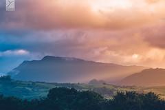 Sunset (Yannick Charifou Photography ©) Tags: nikon d850 afs200500mm56evr landscape reunionisland iledelaréunion montagne mountain montain nature ngc light indianocean sunset sunrise cloud cloudy nuage coucherdusoleil leverdusoleil paysage vert green rayon flare