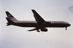 G-BNWL  B767 British airways LHR 19-06-93 (cvtperson) Tags: gbnwl boeing 767 british airways london heathrow lhr egll