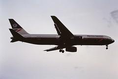 G-BNWL  B767 British airways LHR 19-06-93 (cvtperson) Tags: gbnwl boeing 767 british airways london heathrow lhr egll