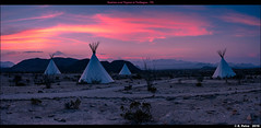 Sunrise over Tepees at Terlingua, TX (episa) Tags: bigbendnationalpark panorama sunrise fujifilmgf45mmf28rwr may2019 fujifilmgfx50r