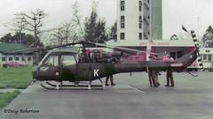 1983 - Hong Kong - RAF Sek Kong - Army Scout (DougRobertson) Tags: rafsekkong armyaircorp westlandscout 1983
