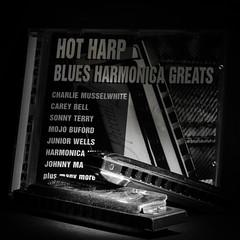 Black & White Blues (Robert E C) Tags: musicinbw smileonsaturday harmonica bw