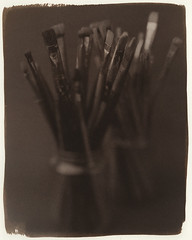 "Brushes - 2019 - 01. (Kallitype) (sirolajos) Tags: kallitype kallitípia altprocess ""historical photographic printing processes"" ""alternativephotograpycom"" analogue analog ""8x10 plaubel peco profia"" closer details lights shades saunders xray ""large format"" ""fuji hrt"""