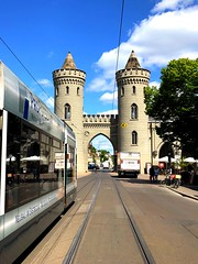 The Nauener gate portal on the city side (ANBerlin) Tags: building tower apple architecture germany deutschland gate tram cablecar architektur historical portal tor turm trolly bauwerk potsdam brandenburg iphone prussia historisch 8plus nauenertor strasenbahn iphotography preusen anb030 iphonography shotoniphone iphone8 reflexion reflection mirror spiegelung reflektion sky clouds heaven himmel wolken city urban cityscape pov citylife stadt sight stadtleben sehenswürdigkeit stadtansichten städtisch pointofinterest streetphotography struktur structure strasenfotografie outdoor drausen extraordinary ausergewöhnlich blue sun sunlight blau sonne sonnenlicht tracks gleise