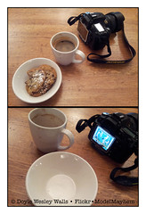 My Review of the Chocolate Chunk Cookies and Coffee at MoMA, NYC (Doyle Wesley Walls) Tags: lagniappe moma matisse dance1 nikon diptych coffee cups plates chocolatechunkcookies food drink dessert photograph foodreview doylewesleywalls displayscreen art painting dancing joy