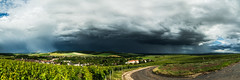 Before the storm (ZeGaby) Tags: avenayvaldor champagne clouds hdr irix15mm landscape marne naturephotography orage panoramic panorma paysage paysagedechampagne pentaxk1 rain rainbow storm france