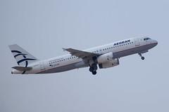 Aegean A320, SX-DVI, TLV (LLBG Spotter) Tags: aircraft a320 tlv aegean airline sxdvi llbg