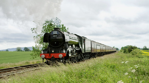 Flying Scotsman heading towards Worcester