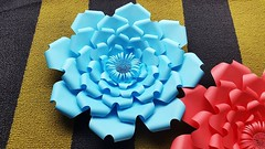 Giant Flower assembly | Paper Flower Backdrop | DIY Paper Flowers (ufnmimcp) Tags: youtube origami papers made colors paper