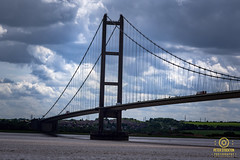 far end of the humber bridge (kapper22) Tags: humber bridge yourkshire outdoor cars vans clouds overcast wires water