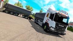 Li-Trans Scania XT Dumper Combo (teklic97) Tags: li trans livno transport klana skin ets2 mods xt dumper combo schmitz dolly trailer lowloader scs teklic mod