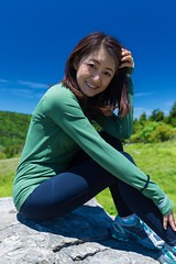 Mei - Hiking at Roan Mtn (Chris-Creations) Tags: fille attractive sweet cute beauty lovely amateur wife gorgeous beautiful glamour mujer niña guapa chica esposa женщина 女孩 女人 性感 妻子