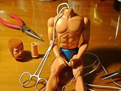 Break Time Photo – Broken Muscle Body Figs Repair – G I Joe Adventure Team – Eagle Eye Land Commander & Sea Adventurer – 19 Years of Waiting 30 Minutes to Fix – Operation 2 (My Toy Museum) Tags: joe adventure team muscle body figure repair action gi break time photo