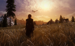 (BervinovaA) Tags: sky sun game grass clouds landscape pc screenshot dragon fantasy tes bethesda virtualphotography theelderscrolls gamephotography dragonborn skyrim dovahkiin mountains north tesvskyrim