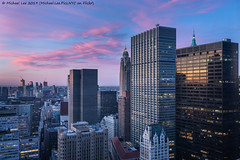Sunrise (20190615-DSC09524) (Michael.Lee.Pics.NYC) Tags: newyork aerial lowermanhattan sunrise hotelview millenniumhilton downtownbrooklyn architecture cityscape sony a7rm2 fe24105mmf4g