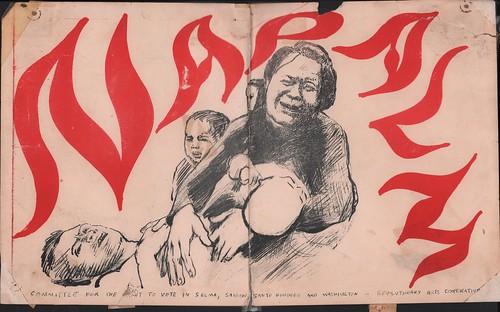 Anti-napalm poster circa 1967