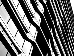 The Fun Of Architecture (YIP2) Tags: window windows facade abstract minimal minimalism simple less line linea detail pattern lines geometry design architecture building repetition diagonal bw blackandwhite amsterdam zuidas