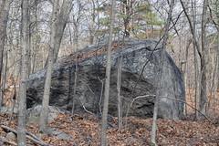 erratic, Quincy granite (ophis) Tags: quincygranite erratic boulder milton