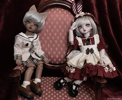 An Unusual Duo (NekoNyanMew) Tags: bjd abjd ball jointed doll peaks woods pipos gothic vampire cat boy