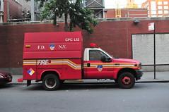 FDNY Chemical Protective Clothing Ladder 12 (Triborough) Tags: ny nyc newyork newyorkcity newyorkcounty manhattan chelsea fdny newyorkcityfiredepartment firetruck fireengine cpc cpcl12 ford fseries f450 knapheide