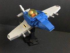 LL609 Ultramarine Spitfire (SaurianSpacer) Tags: lego moc spaceship spitfire ncs space spacefighter neoclassicspace