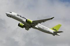 YL-AAQ - LGW (B747GAL) Tags: air baltic airbus a220300 lgw gatwick egkk ylaaq