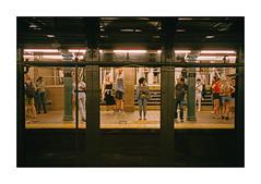 FILM - Subway (fishyfish_arcade) Tags: 35mm analogphotography canonsureshotz135 filmphotography filmisnotdead istillshootfilm kodak newyork portra400 analogcamera compact film streetphotography subway canalstreet