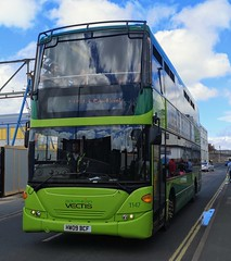 Southern Vectis 1147 on Castle Street while on an Isle of Wight Festival Shuttle. - HW09 BCF - 14th June 2019 (Aaron Rhys Knight) Tags: southernvectis 1147 hw09bcf 2019 castlestreet eastcowes isleofwight gosouthcoast goahead scanian230udomnicity