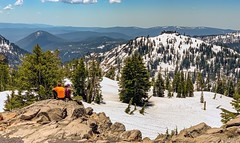 Lassen Volcanic National Park in the Cascade Mountain Range of Northern California: An overlook on the park road. (lhboudreau) Tags: