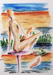 fenicottero rosa (dndnalfredo) Tags: fenicottero rana rosa natura donna nudo