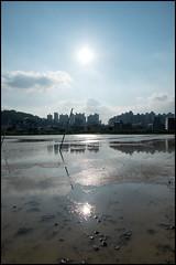 Watering the paddyfield (hej_pk / Philip) Tags: gwangju kwangju sydkorea fuji fujifilm fujifilmxpro1 fujixpro1 xp1 xpro1 fujinon fujinonxc1650mmf3556oisii xc1650mmii solnedgång vatten solljus solen reflection water sunlight