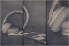 Music (Anikó Lázár) Tags: smileonsaturday musicinbw triptych headphones music